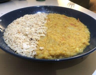curry de lentilles corail