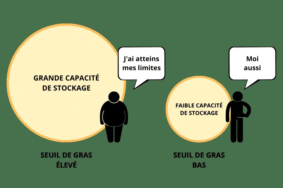 différents seuil de gras personnel