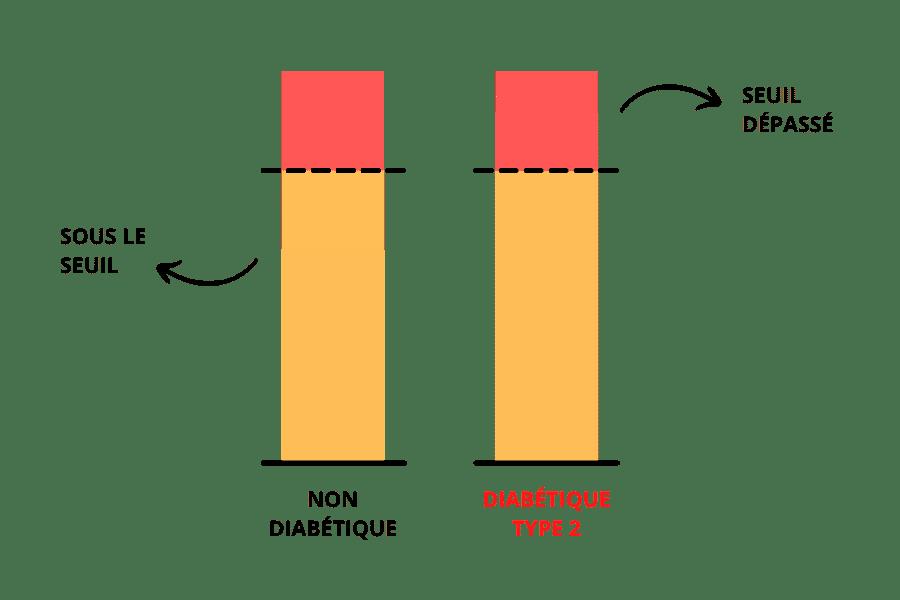 seuil de gras personnel dépassé chez le diabétique type 2