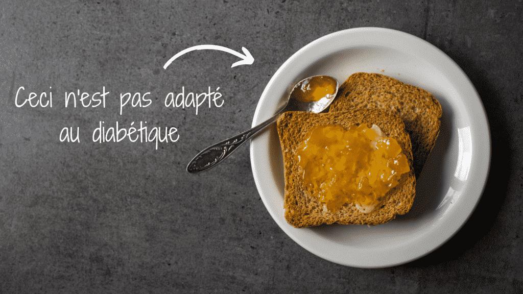 le petit déjeuner classique n'est pas adapté au diabétique